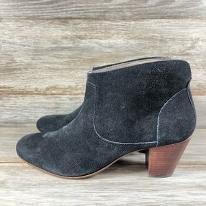 H By Hudson London Suede Heeled Ankle Boots Eu 41